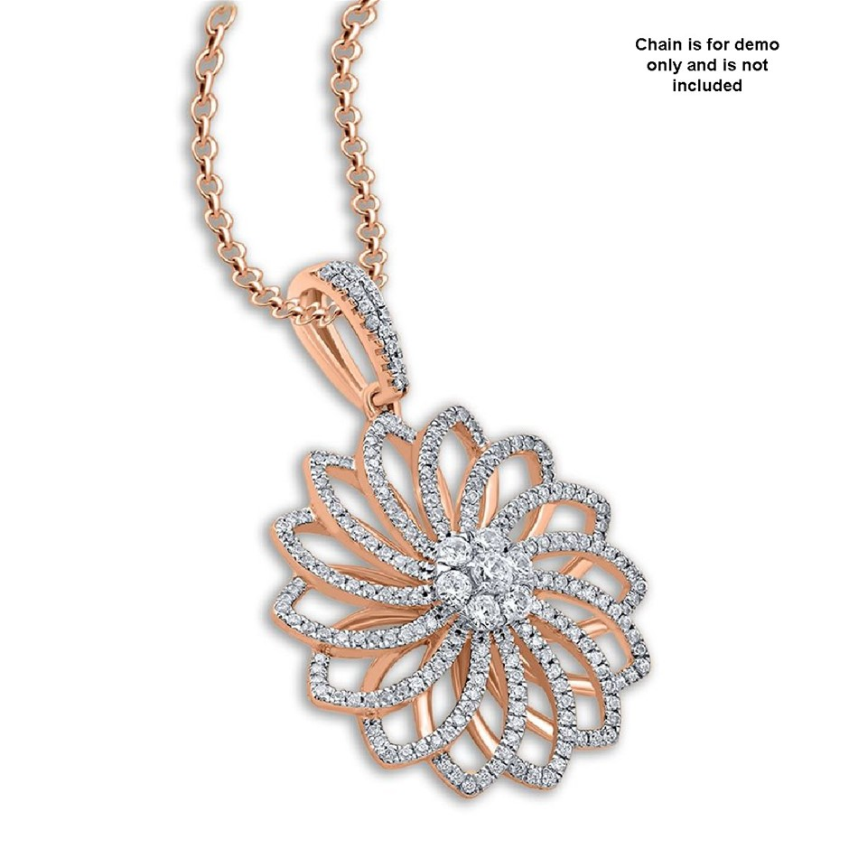 9ct Rose Gold, 0.52ct Diamond Pendant