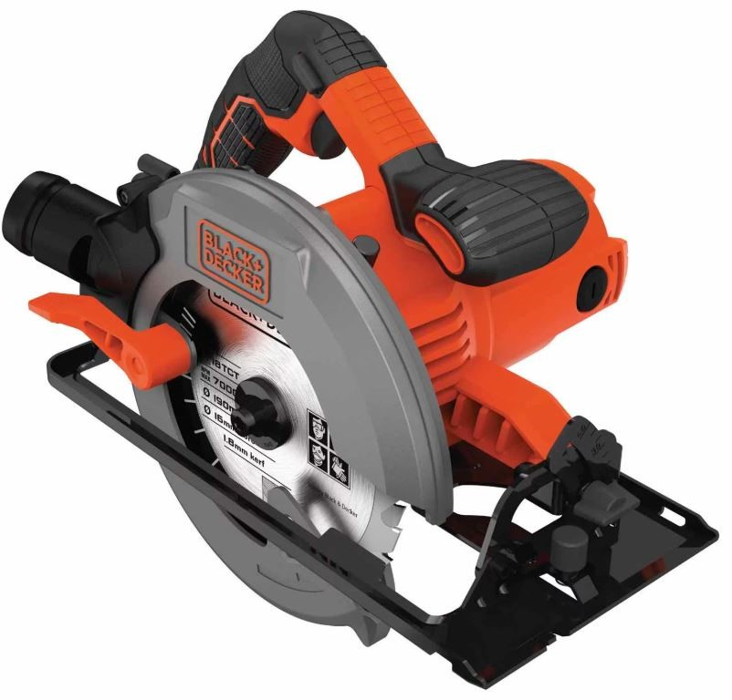 BLACK & DECKER 190mm Portable Electric Saw 1500W with Depth Cut Adjustment,