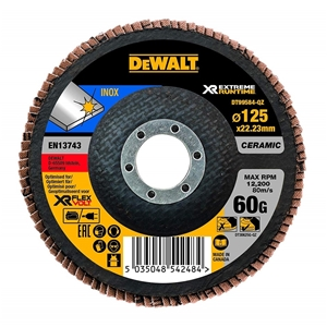 5 x DeWALT Ceramic Flap Disc 125 x 60 Gr