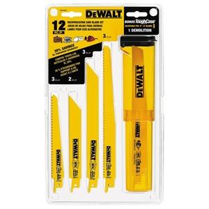 DeWALT 12pc Set Bi-Metal Reciprocating S