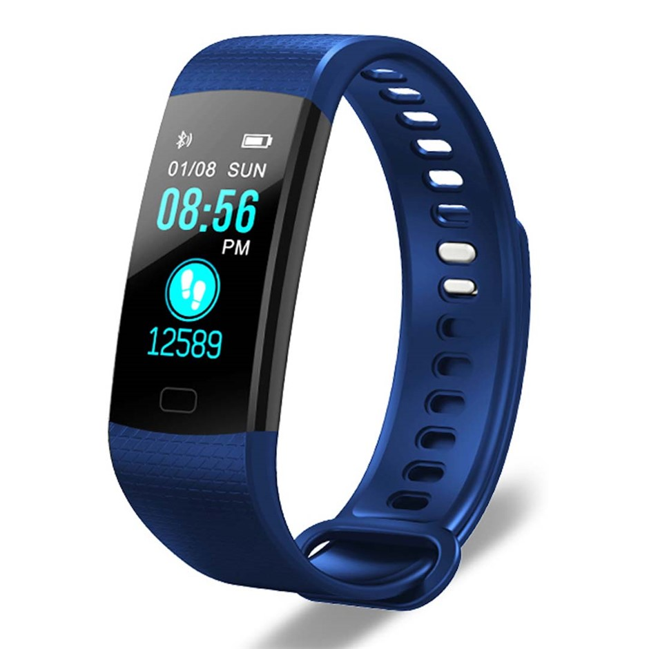 SOGA Sport Smart Watch Fitness Wrist Band Bracelet Activity Tracker Blue