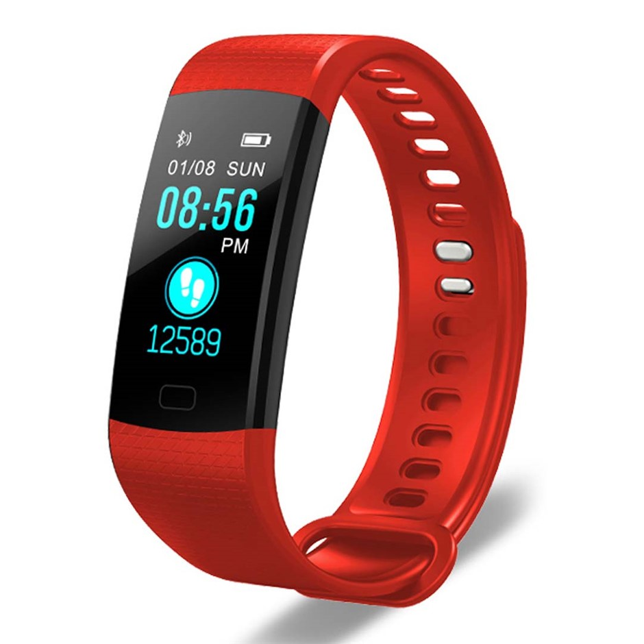 SOGA Sport Smart Watch Fitness Wrist Band Bracelet Activity Tracker Red
