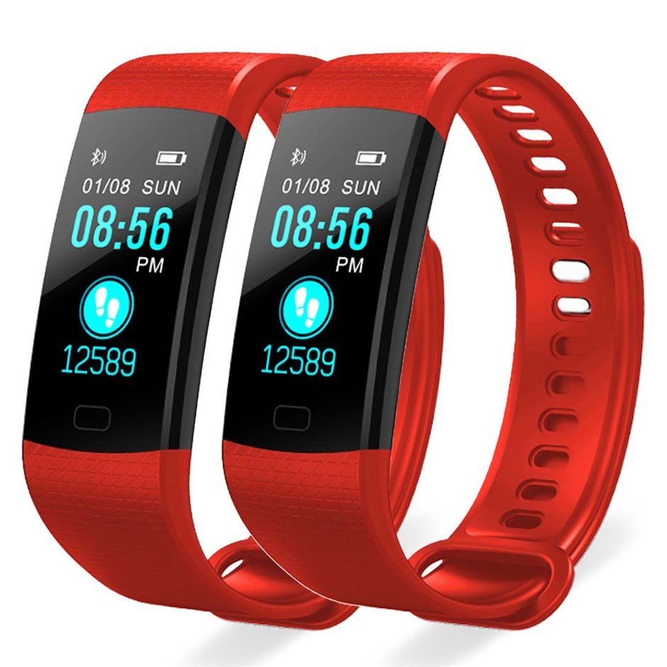 SOGA 2X Sport Smart Watch Fitness Wrist Band Bracelet Activity Tracker Red