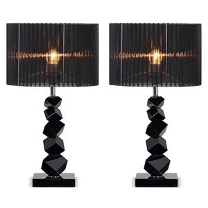 SOGA 2x 60cm Black Table Lamp with Dark