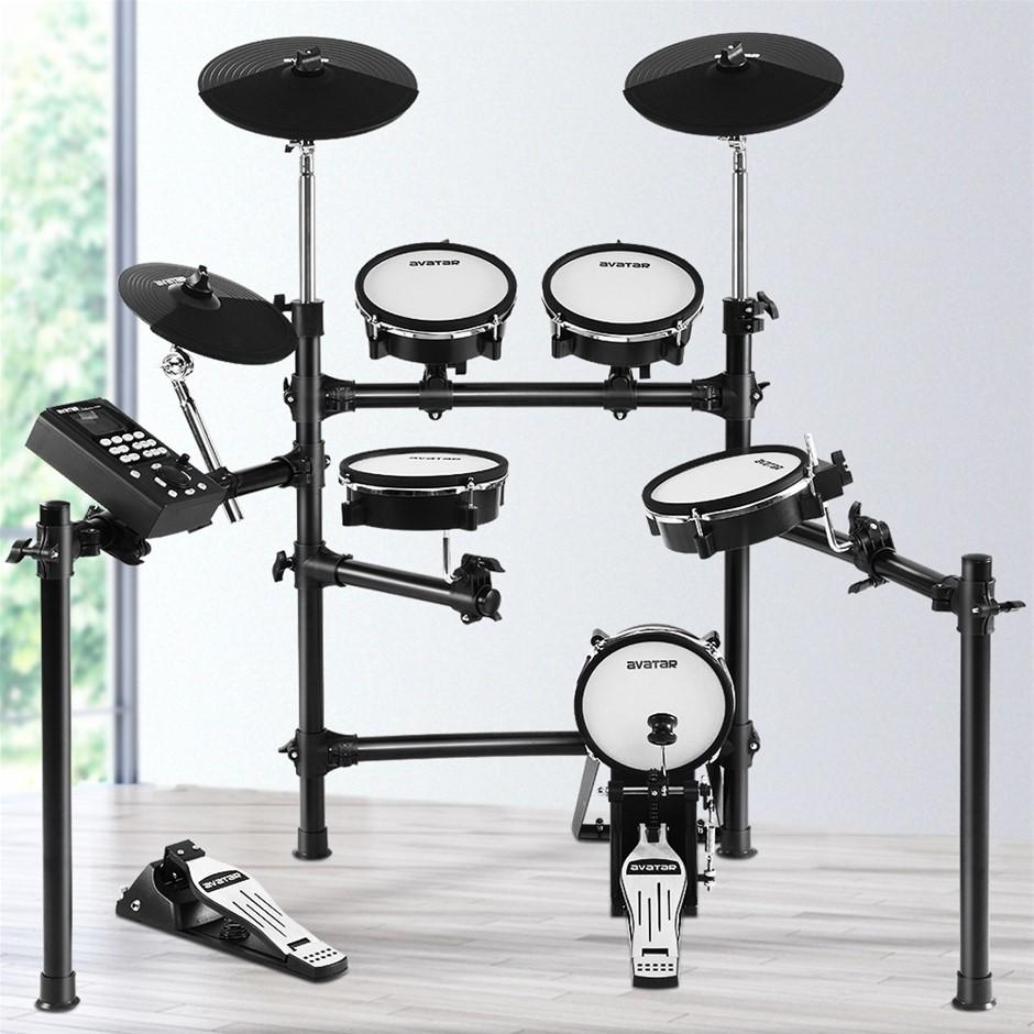 8 Piece Electric Electronic Drum Kit Mesh Drums Set Pad Tom Midi