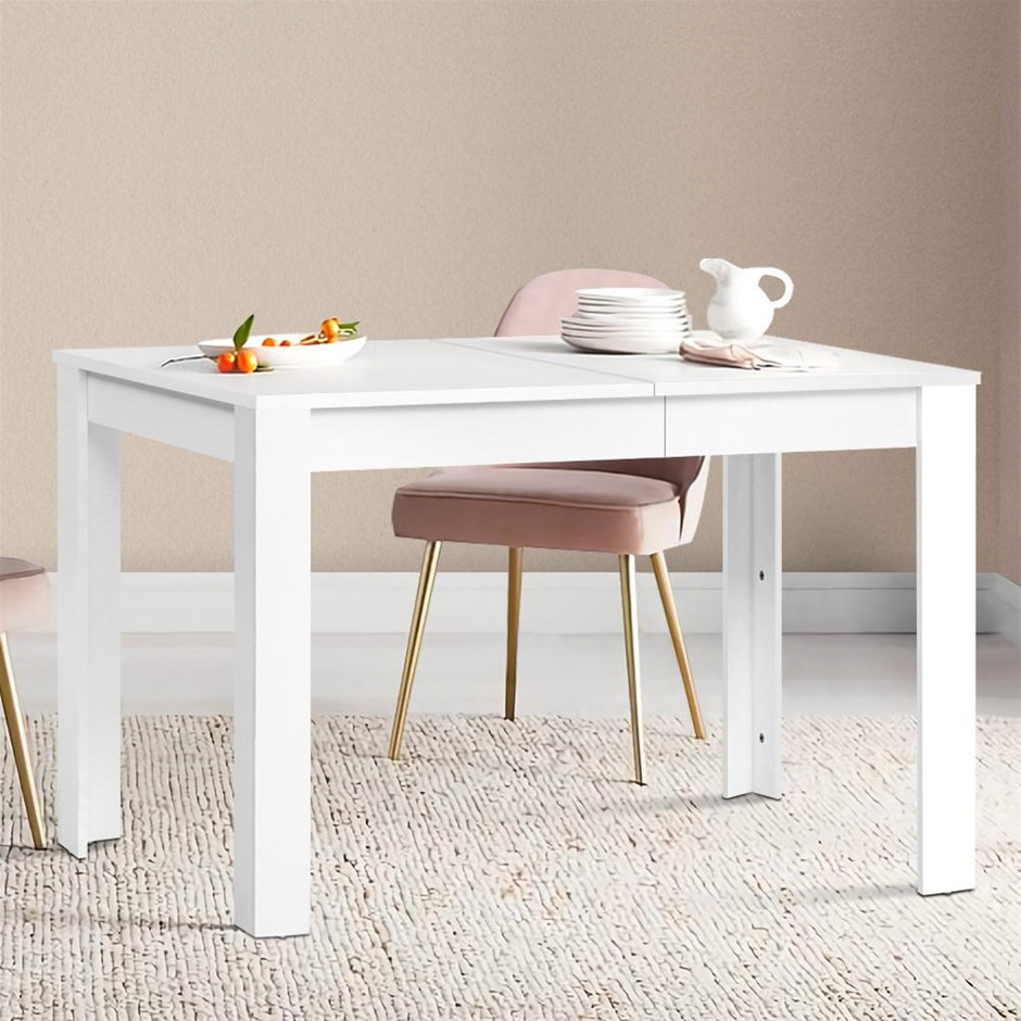 Artiss Dining Table 4 Seater Wooden Kitchen Tables White 120cm Café