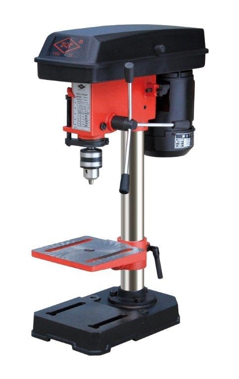 Bench Pedestal Drill, 240V, 13mm Chuck, 160 x 160mm Table Stop, Height 550m