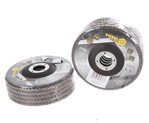 10 x VOREL Abrasive Flap Discs 125mm Gri