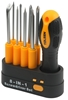 2 x TOLSEN 8-in-1 Screwdriver Sets, Sizes SL: 3.0x65, 5.0x65, 6.0x 65mm; PH