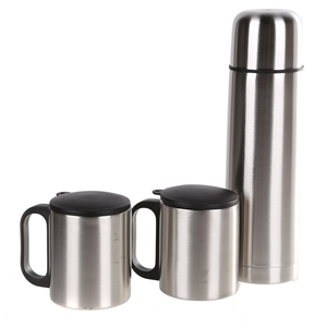 Stainless Steel 3pc Thermos Set in Nylon