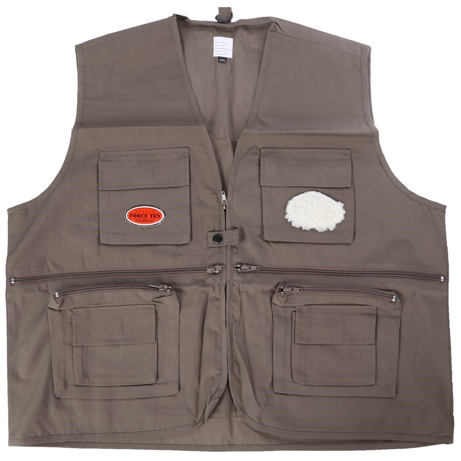 2 x Fishing and Recreational Vest, Size 2XL, Khaki. Buyers Note - Discount