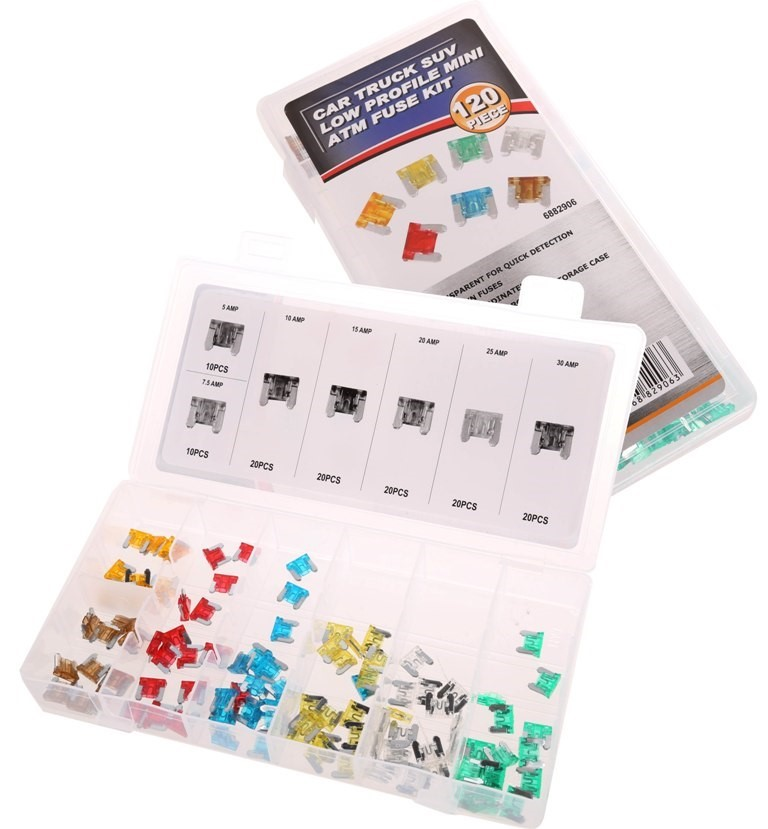 120pc Automotive Mini Fuse Assortment Kit, Contents as per Image. Buyers No