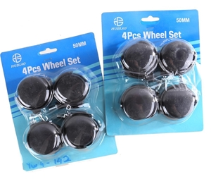 2 Sets of 4 x Castor Wheels 50mm. Buyers