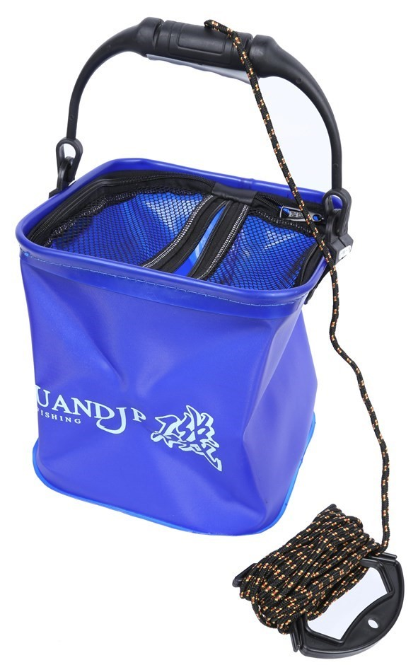 Fishing Bucket 10Lt c/w Rope Line, Colour may vary. Buyers Note - Discount
