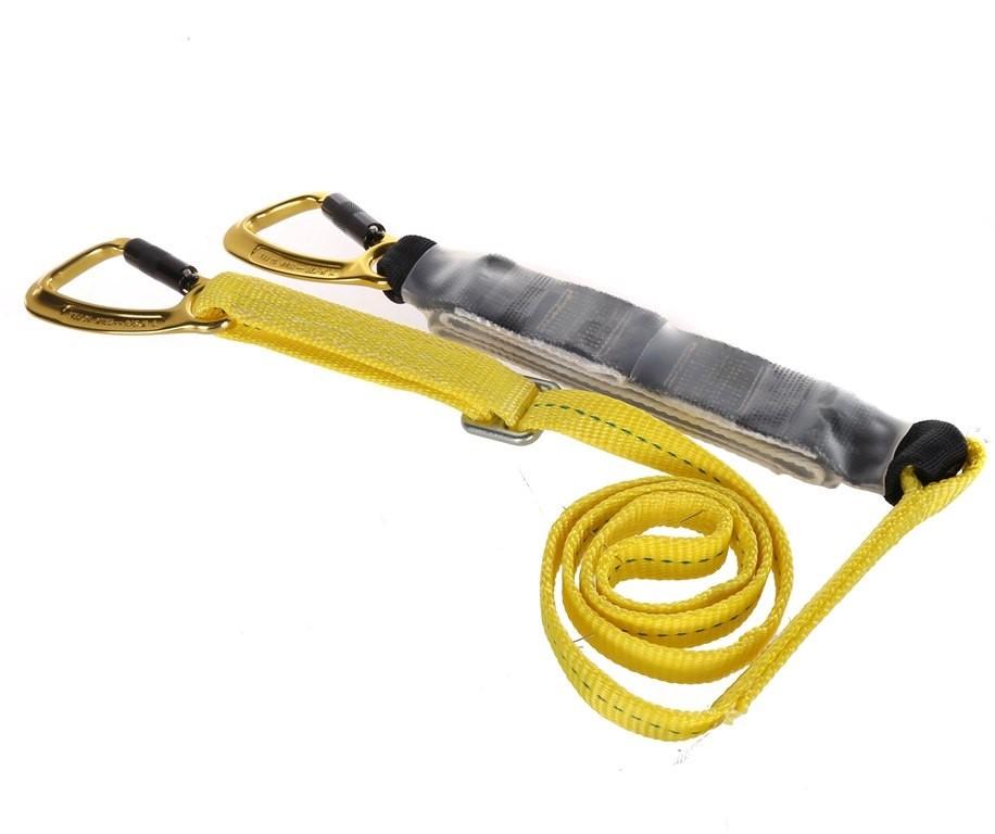 MSA 2M Shock Absorbing Rope Lanyard, Single Leg c/w Twist Lock Alloy Hooks