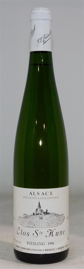 TRIMBACH Clos Ste Hune Riesling Ribeauville1986 (1x750mL) Alsace