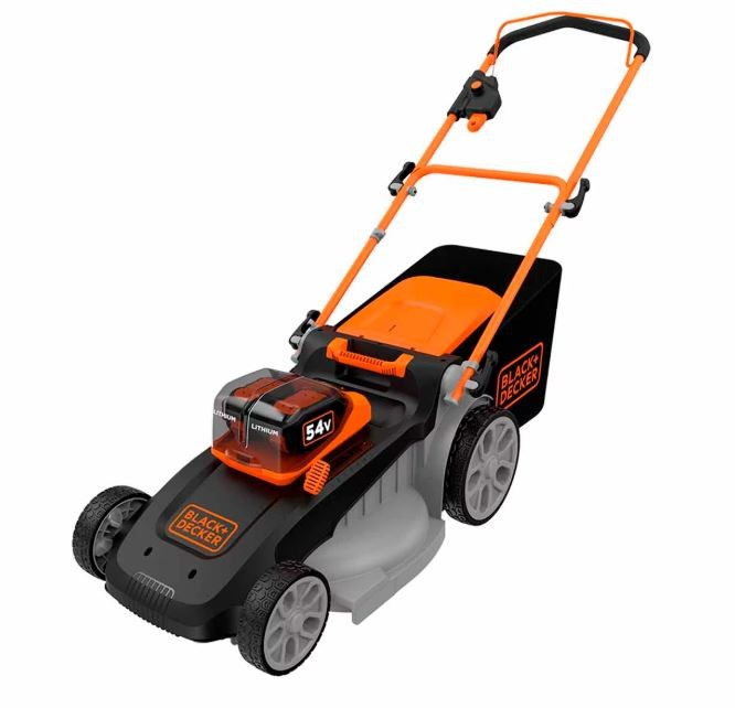 BLACK & DECKER 54V Cordless Lawn Mower, Cutting Width 48cm. Complete with G