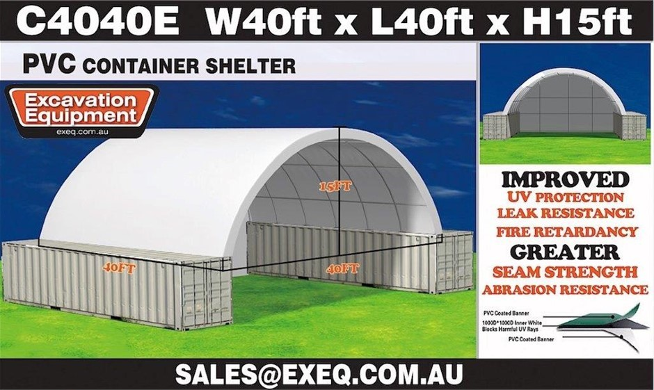 2019 Unused Heavy duty 40ft Container Shelter with Endwall