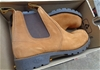 T Boots Beige Elastic Sided Leather Desert Boots 8.5 - DELIVERY AVAILABLE