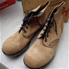 <b>T Boots Beige Lace Up Leather Desert Boots 9 - DELIVERY AVAILABLE