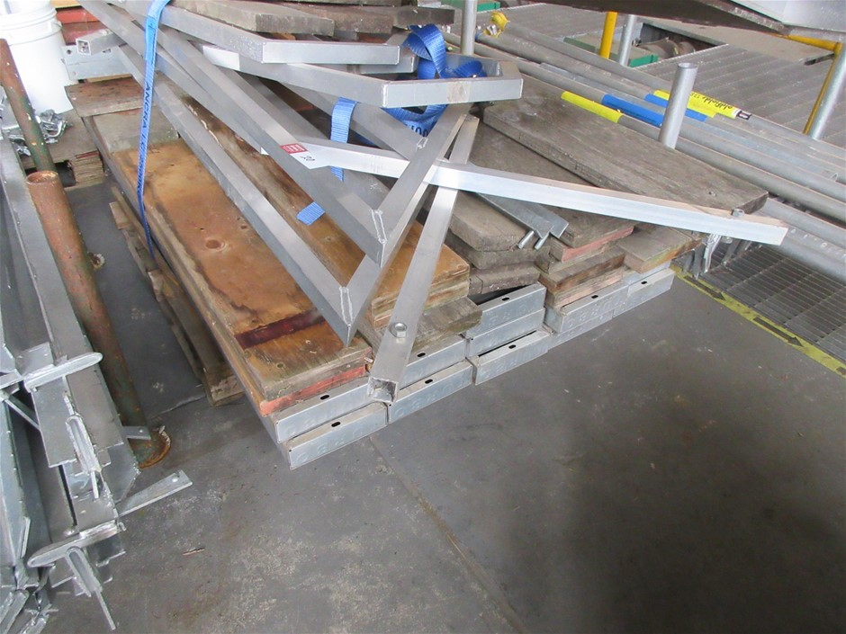 Pallet with Scaffold Planks