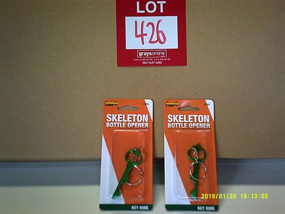 Box of 48 Skeleton Key Ring Bottle Opener. Ideal for Market Stalls. New