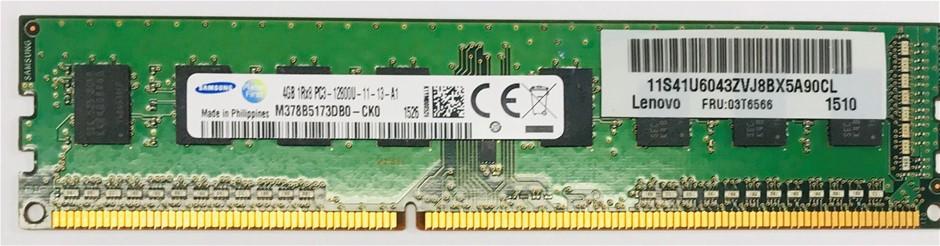Samsung 4GB 1Rx8 DDR3-12800U 288pin SDRAM Single-Sided 8-Chip Memory Module
