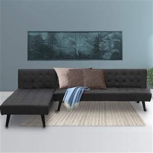 Sarantino Corner Sofa Bed PU Leather Lou