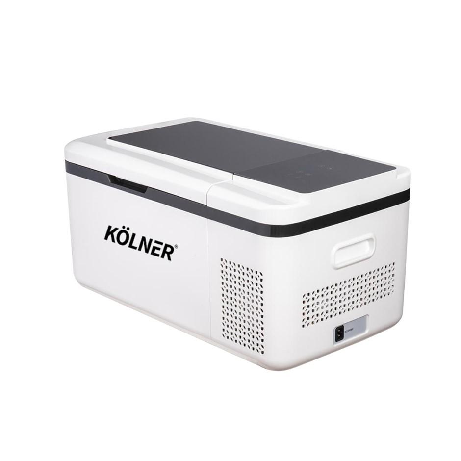 Kolner 20L Portable Fridge Freezer Cooler 12/24/240V Camping White
