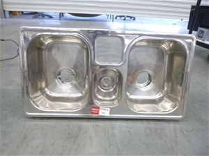 Stainless Steel 2x 1/4 Basin and Shute