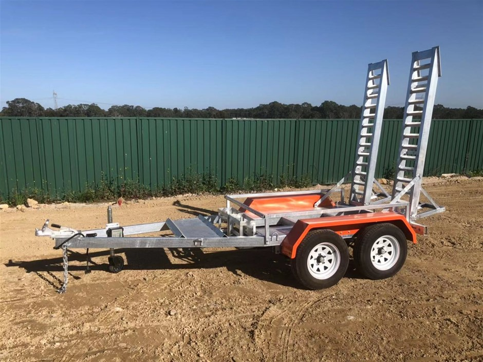 2020 New Plant Trailer - Galvanised Plant Trailer Tandem Heavy Duty 3400kg