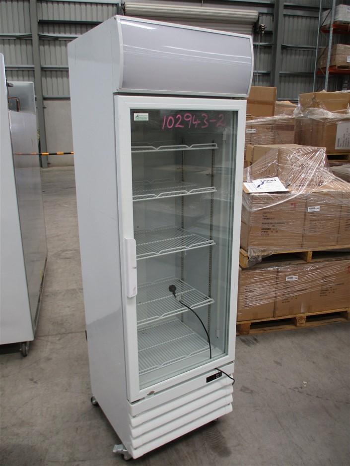 Thermaster LG-370GE Upright Single Glass Door Fridge