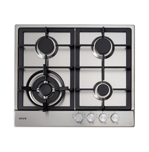 Euro 60cm S/S Gas Cooktop, Model: ECT60W