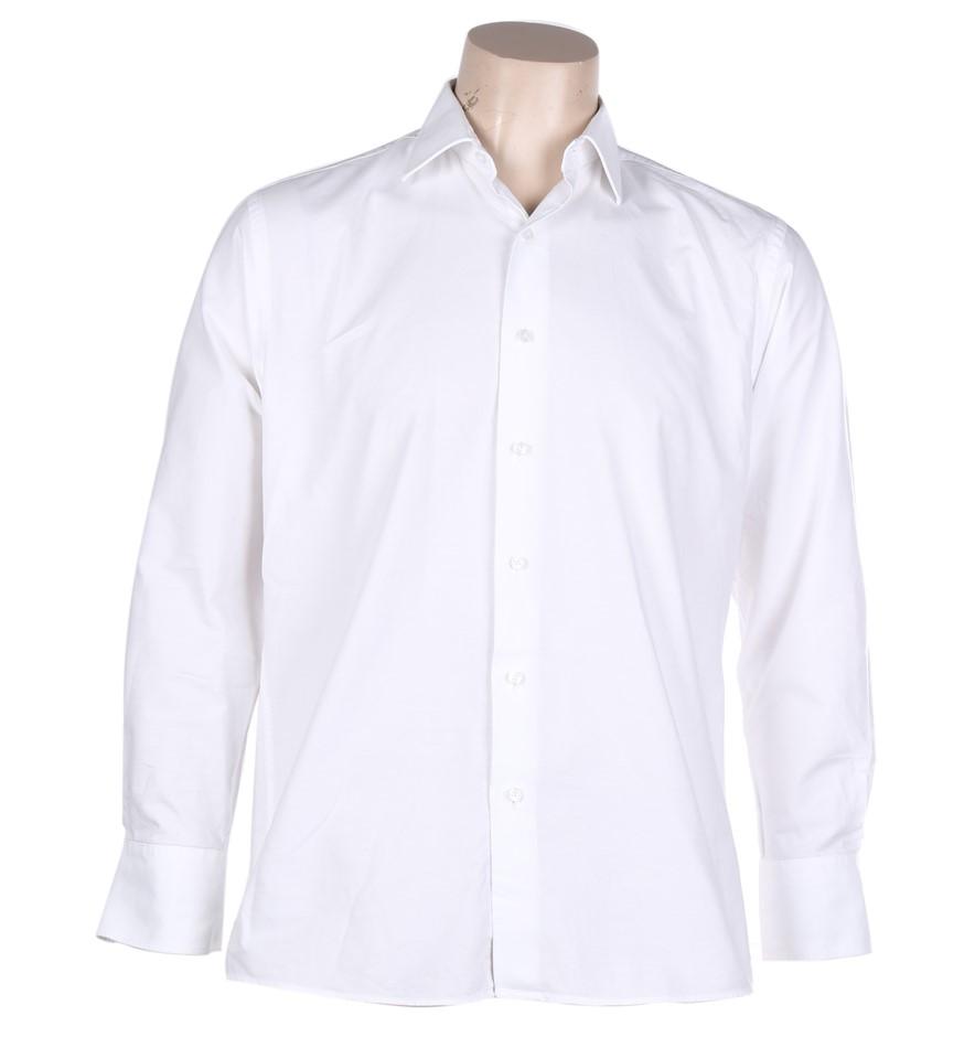 PIERRE CARDIN Men`s Euro-Cut Dress Shirt, Size 39/ 87, Cotton, White. Buyer