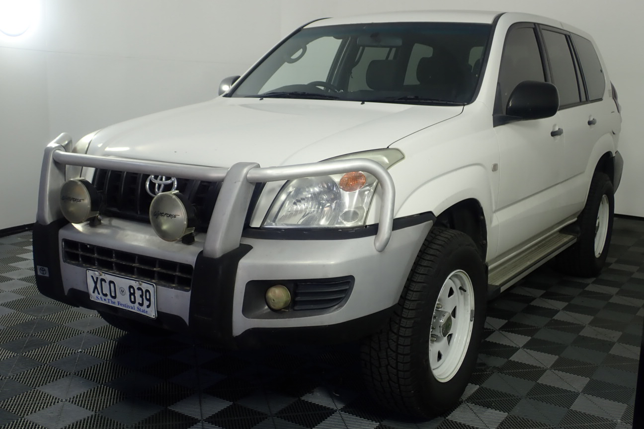 2004 Toyota Landcruiser Prado GX (4x4) Turbo Diesel Manual 8 Seats Wagon