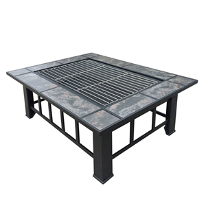 Grillz Fire Pit BBQ Grill Stove Table Ic