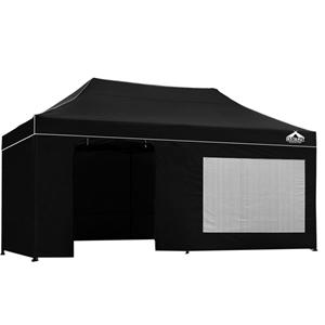Instahut 3x6m Outdoor Gazebo - Black