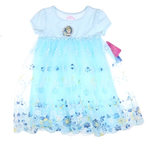 DISNEY Princess Girl`s Dress, Size 7, Po