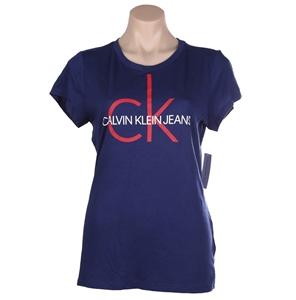 CALVIN KLEIN Women`s Heritage Logo Tee,