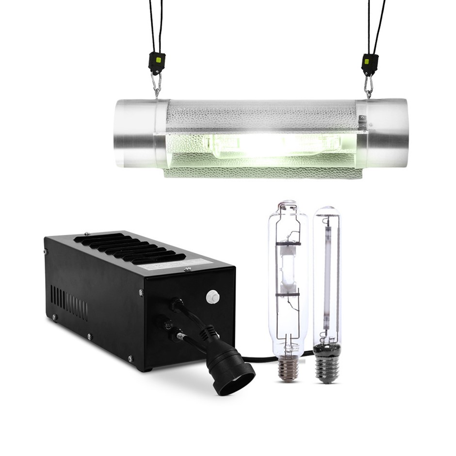 Green Fingers 600W HPS MH Grow Light TUBE Reflector Hydroponic Grow System