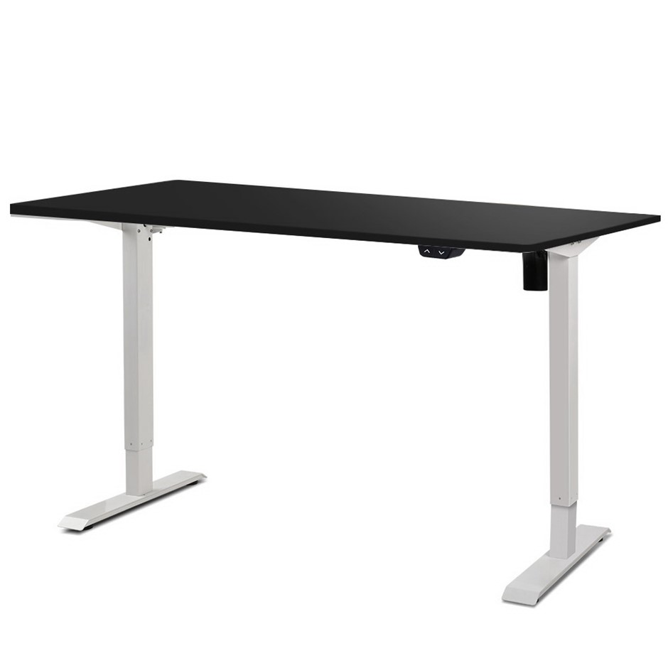 Artiss Motorised Electric Height Adjustable Standing Desk White Black