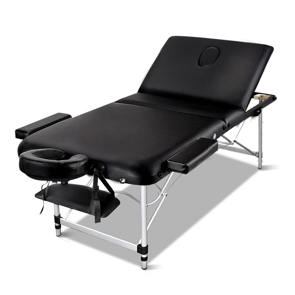 Zenses Massage Table 70cm Portable 3 Fold Aluminium Therapy Beauty Bed