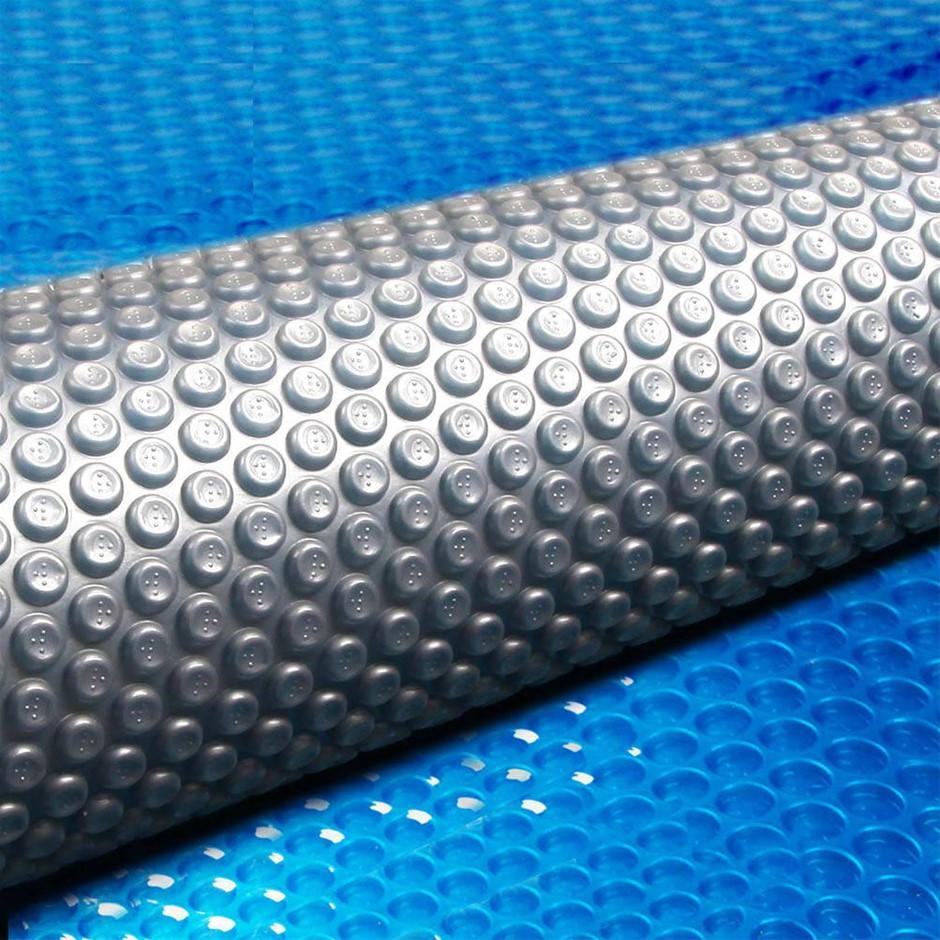 Aquabuddy 8M x 4.2M Solar Swimming Pool Cover 400 Micron Bubble Blanket