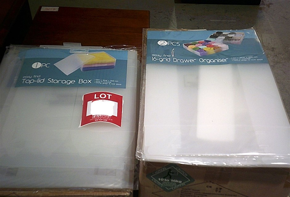 3 Boxes x 36 Easy Find clear plastic storage Boxes