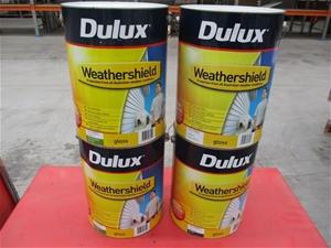 Qty 4 x Dulux 10L Assorted Paint