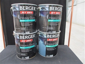 Qty 4 x Berger 10 Litre Paint