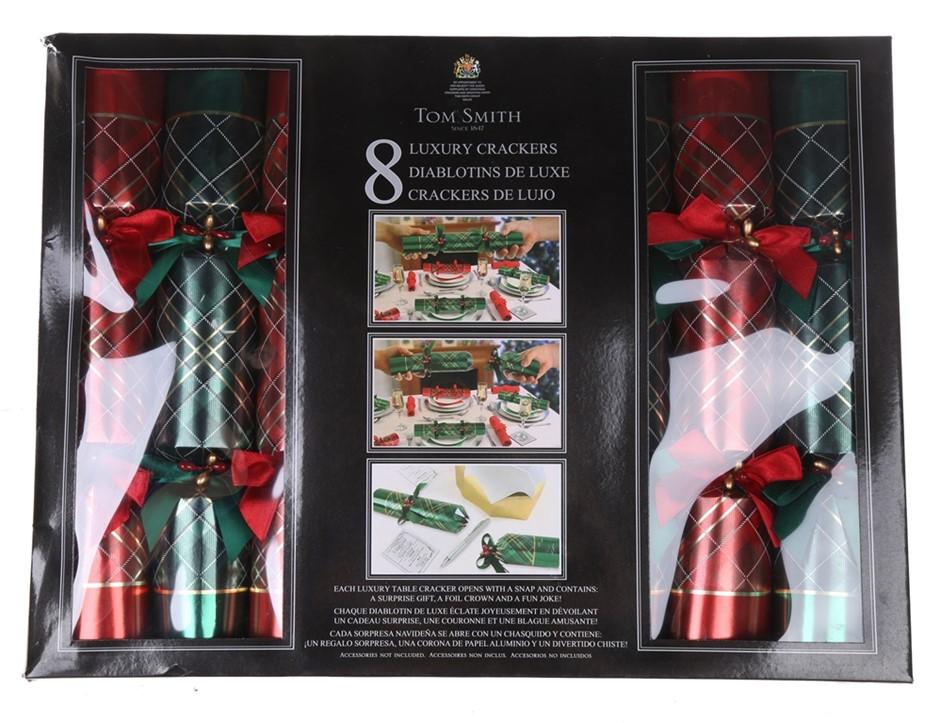 2 x TOM SMITH 8 Pack Christmas Luxury Crackers 14`` Cracker. (SN:CC52071) (
