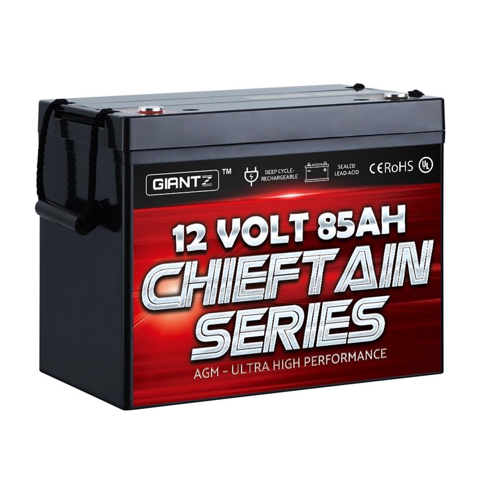 GIANTZ 85Ah Deep Cycle Battery 12V AGM Marine Sealed Power Portable Solar