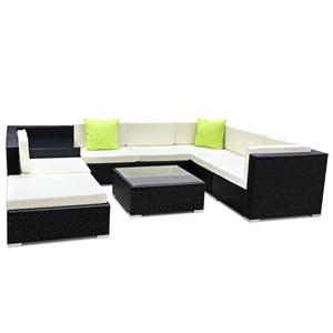 Gardeon 9 Piece Outdoor Furniture Set Wi
