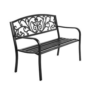 Garden Bench Seat Outdoor Chair Steel Ir